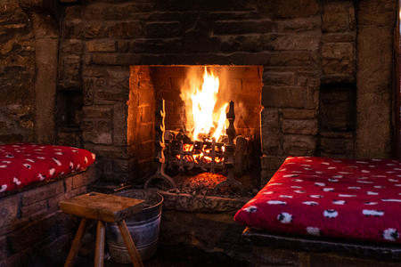 Cosy Fireplace on a winter's night
