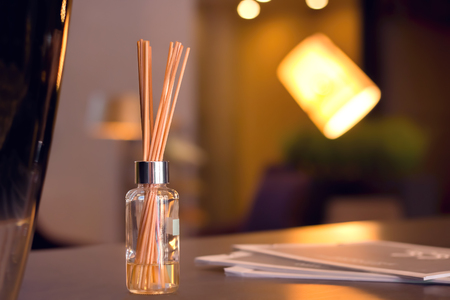 Reed Diffuser In High End Luxury Room