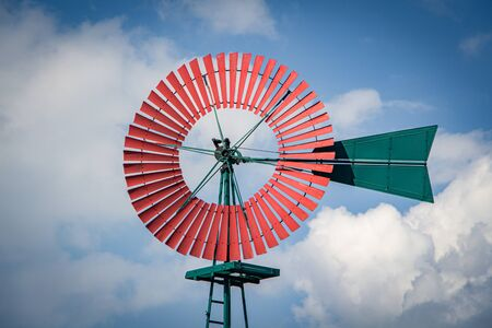 Photo for Old Windmill with the Sky in the Background - Royalty Free Image