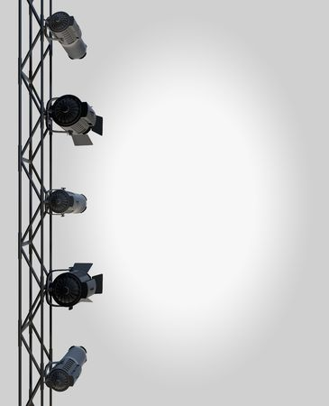 Photo pour vertically hung spotlights lighting the right side of a page up. - image libre de droit