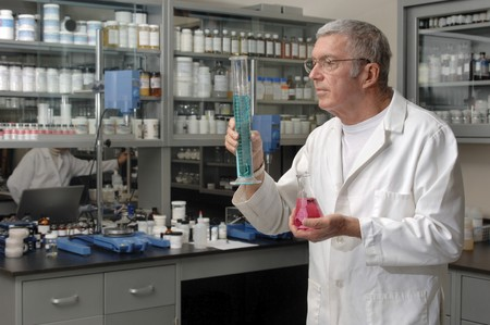 Chemist working in a laboratory