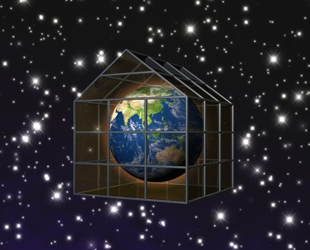 planet earth in greenhouse