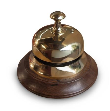 Foto für brass service desk bell with wood base - Lizenzfreies Bild