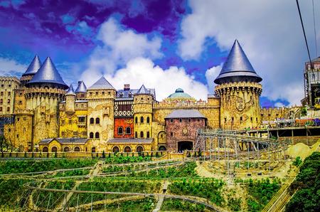 a castlelike architectures in Ba Na Hills Da Nang Vietnam