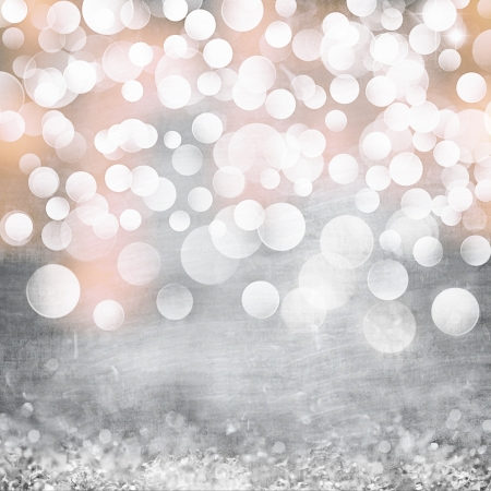 Elegant Grunge Silver, Gold, Pink Christmas Light Bokeh   Vintage Crystal Background Texture