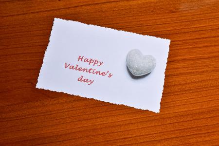 Photo pour Card with happy valentine \ 's day - image libre de droit