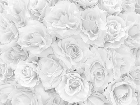 Photo for White mable with many Rose flower pattern background - Royalty Free Image