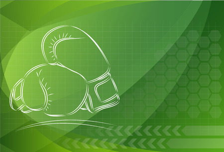 abstract background with boxing gloves