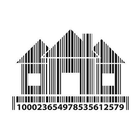 Home as barcode, vector illustration: Royalty-free vector