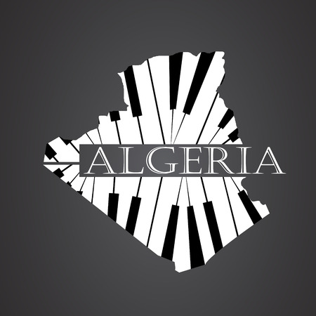 algeria map made from piano