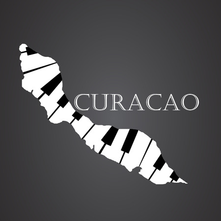 curacao map made from piano