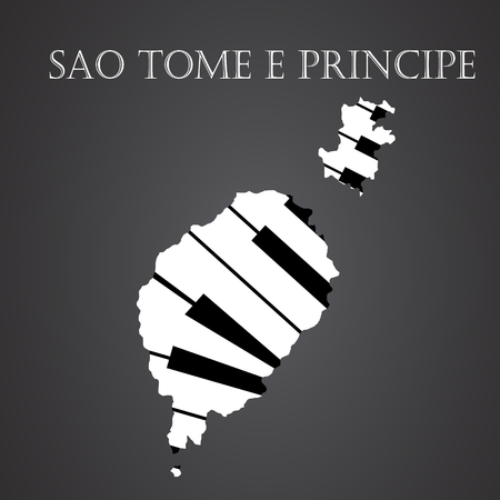 sao tome e principe map made from piano