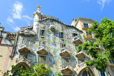 Casa Batllo (La Casa Batll?) is an Modernism masterpiece by architect Antoni Gaudi at Eixample District in Barcelona, Catalonia, Spain