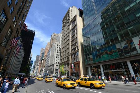 Yellow Cabs on Fifth Avenue, Manhattan, New York City, USA