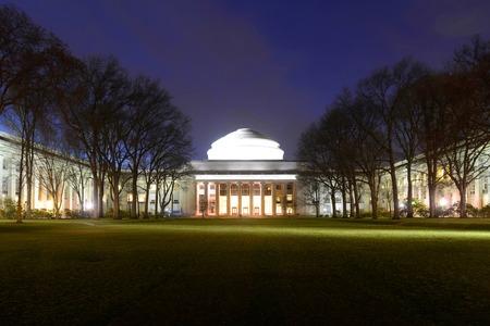 Great Dome of Massachussets Institute of Technology MIT at night, Cambridge, Massachusetts, USA