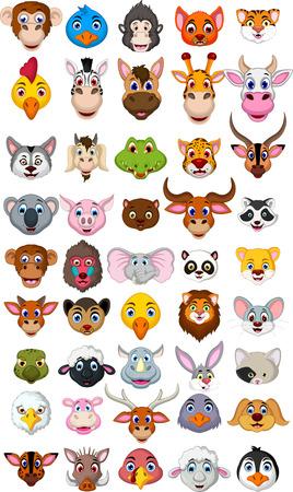 Foto de super big animal head cartoon collection - Imagen libre de derechos