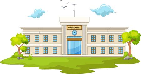 Illustration pour beautiful university cartoon - image libre de droit