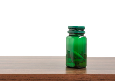 Medicine plastic bottle isolated on a white background, Clipping path