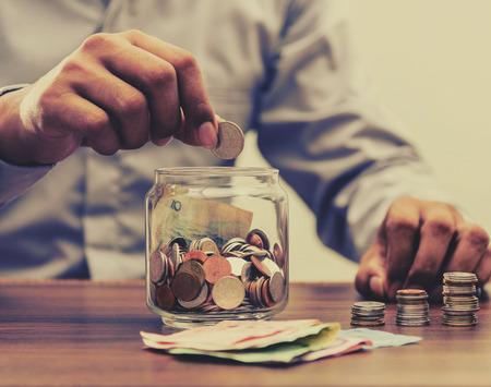 Photo pour Save money for retirement and account banking for finance concept - image libre de droit