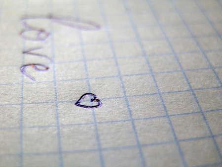 Heart on a sheet