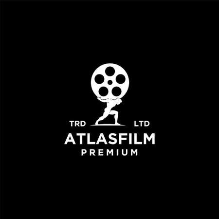 Illustration pour atlas film vintage logo icon illustration Premium Vector - image libre de droit