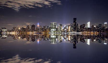 New York city skyline as see