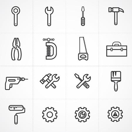 Illustration pour Vector tools icon set - image libre de droit