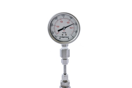 Vacuum gauge on white background