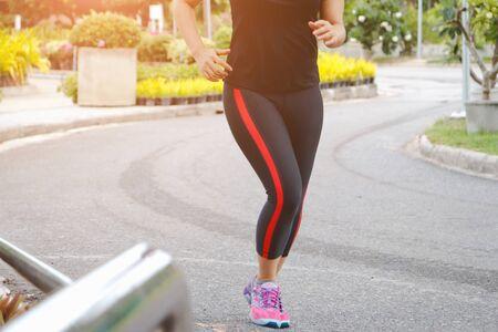 Foto für young fitness woman running in the park. - Lizenzfreies Bild