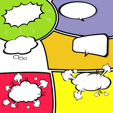 Illustration pour comic template Vector - image libre de droit