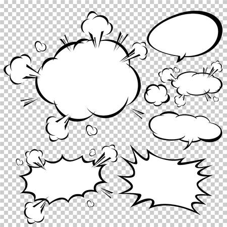 Illustration pour comic speech bubbles,Vector Illustration - image libre de droit