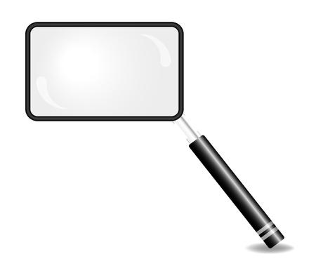Rectangular magnifying glass