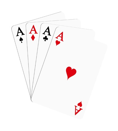 Playing cards - aces (poker)