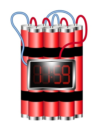 Time bomb connected to digital clock explodes