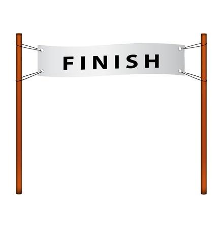 Finish line – ribbon with finish