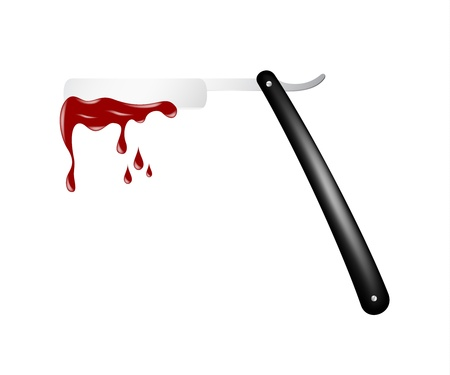 Razor with blood
