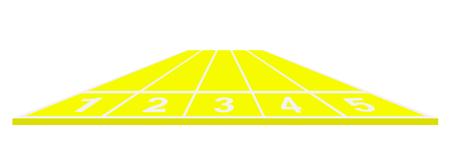 Running track in yellow design