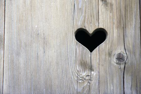 the wooden door with heart