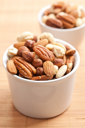 photo shot of various nuts