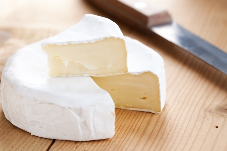 photo shot of brie cheese