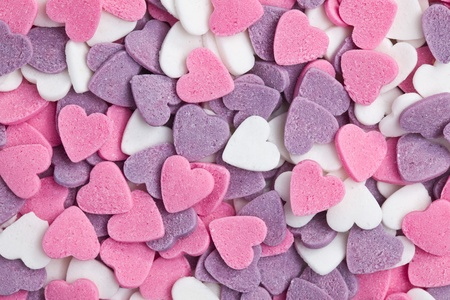photo shot of colorful hearts background