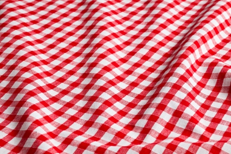 the white and red checkered background