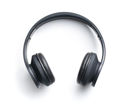 Photo pour Wireless headphones on white background - image libre de droit