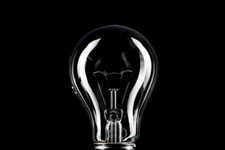 Photo for Classic light bulb on black background. - Royalty Free Image