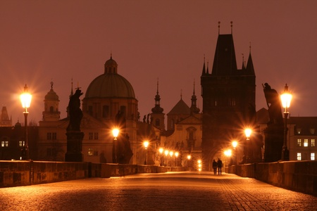 Charles Bridge in Early Morning