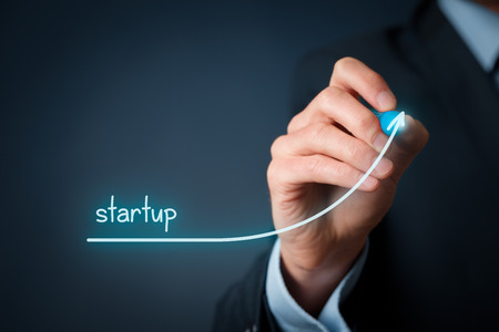 Foto de Startup in progress concept. Successful start-up with growing potential. - Imagen libre de derechos