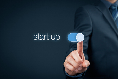 Foto de Start-up business concept. Switch on start-up business. - Imagen libre de derechos