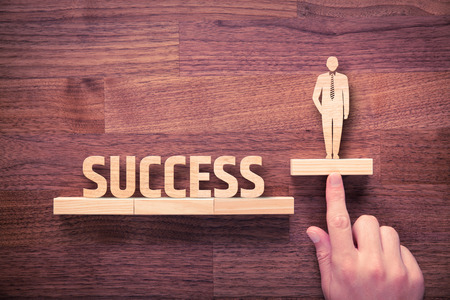 Photo for Successful manager has business success. Businessman with intuition has potential to growth. - Royalty Free Image