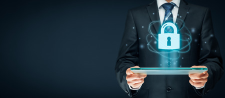 Foto de Cybersecurity and information technology security services concept. Login or sign in internet concepts. - Imagen libre de derechos