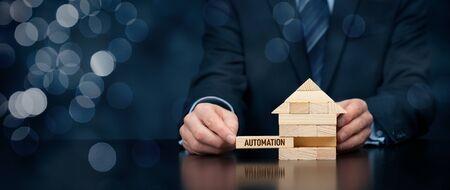 Photo pour Implementation of home automation to your house. Smart home, intelligent house, home automation and domotics concept. - image libre de droit
